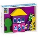 Конструктор Цветной городок фиолетовый 8 дет. 8688-2