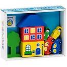 Конструктор Цветной городок голубой 8 дет. 8688-3