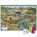 Настольная игра - ходилка Путешествие в мир динозавров 59,5x42 см
