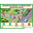 Плакат Предписывающие и запрещающие дорожные знаки