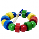 Бусы геометрические цветные (шарики и шайбочки) Д-568